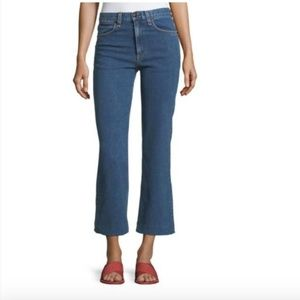 Rag & Bone Justine High Rise Crop Wide Leg Jeans